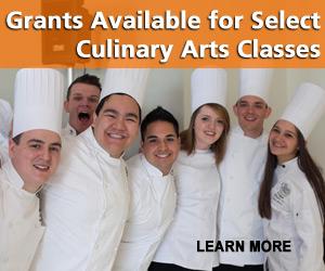 Seasonal Enrollment Grants Available for Select Culinary Arts Classes