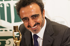 Hamdi Ulukaya with his Augie