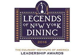 The theme for this year's Augie Awards—a fundraising event for scholarships at The Culinary Institute of America—was Legends of New York Dining