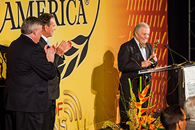 Chef and restaurateur Thomas Keller introduced his mentor and friend, Jacques Pépin before CIA President Dr. Tim Ryan presented him with his Augie Award (left to right)