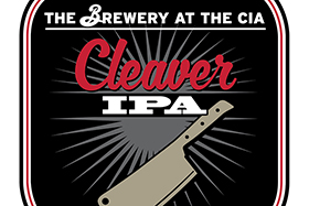 The Brewery at the CIA's Cleaver IPA beer label