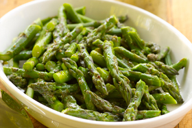 Chilled Asparagus with Mustard Herb Vinaingrette