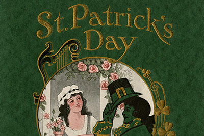 "Among the rare menus on display at the student-curated ""Cooking Up a Nation"" exhibit at the CIA is a special St. Patrick's Day bill of fare from the Partridge Inn in Augusta, GA in 1927"