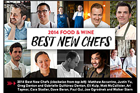 Food and Wine Best New Chefs 2014