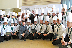 Daniel Boulud Poses With CIA Singapore Graduates
