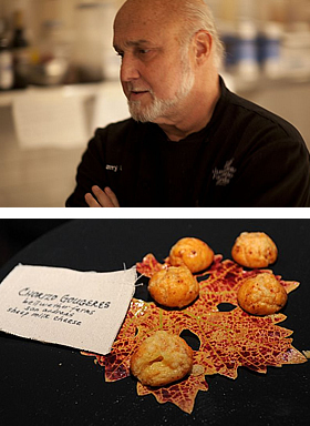 Chef Larry Forgione, Chorizo Gougeres