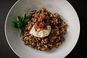 Lentil and Bulgur Pilaf