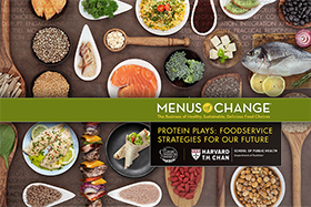 Protein Plays, a companion piece to The Protein Flip, includes 20 techniques chefs can use to move away from an emphasis on red meat and toward more plant-based foods