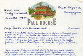 Paul Bocuse's personalized recipe
