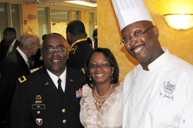 CIA Veterans Admissions Counselor Eric E. Jenkins, U.S. Army Brigadier General Richard B. Dix, and Cynthia Dix.