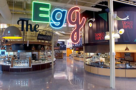 The Egg in the Student Commons at The Culinary Institute of America.