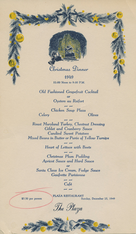 Historic Holiday Menus From The Cia Archives Culinary Institute Of
