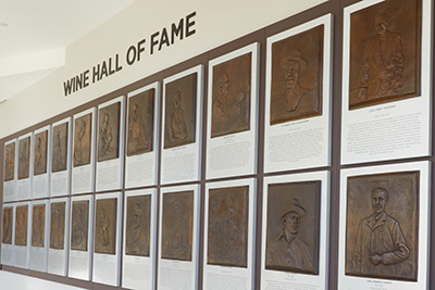 The Wine Hall of Fame at The Culinary Institute of America at Copia in Napa, CA