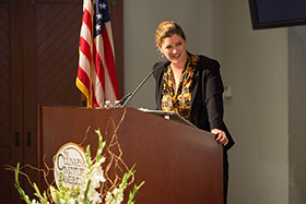 Shelley Lindgren, graduation speaker for the California campus of The Culinary Institute of America on September 4, 2015.