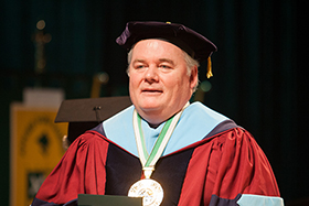 Dr. Tim Ryan at a baccalaureate graduation at The Culinary Institute of America
