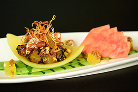 Watermelon and Ahi Tuna Poke