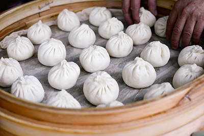Some Steamed Buns at a street stall in Tainan