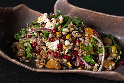 Chef Barbara Alexander shows us creative ways to use Balsamic Vinegar of Modena with this Farro and Lentil Salad with Balsamic Apricots