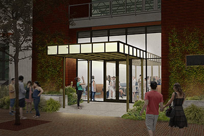 Exterior rendering of Savor, the newest restaurant concept from the CIA Restaurant Group, opens in January 2019 at the San Antonio campus of The Culinary Institute of America at Pearl