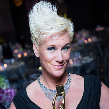 Anne Burrell, CIA culinary arts alumna, chef, and television host