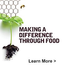 Making A Difference Through Food. Learn more >