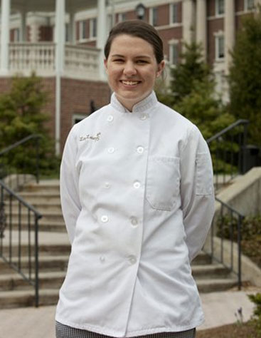 Elizabeth Latanyshyn, CIA baking and pastry arts student, was the recipient of the CIA's Guest Services Endowed Scholarship, the M.F.K. Fisher Endowed Scholarship, and the Dorothy and Marshall M. Reisman Scholarship.
