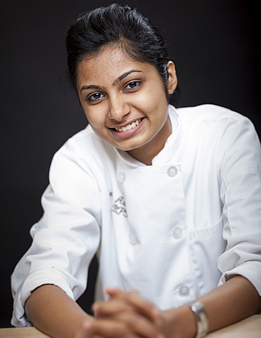 Shreeya Adka, CIA baking & pastry arts student, was excited about baking but was a little fearful about the decision to attend culinary school half way across the world. Her parents strongly supported her decision as they understood her passion for baking.
