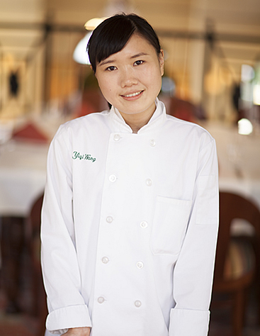Yiqi Wang, CIA culinary arts student, had previously received her Bachelor's degree in Economics in China and worked at a bank before she realized her passion was to be a chef and train at The Culinary Institute of America.