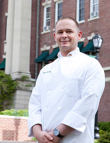 Veteran Shane Cawley, CIA culinary arts alumni, found it hard to wait to come to the CIA during the five years on active duty in the U.S. Marine Corps.