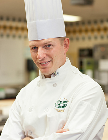 Michael Woodin, CIA baking and pastry arts alumni, is U.S. Army veteran.