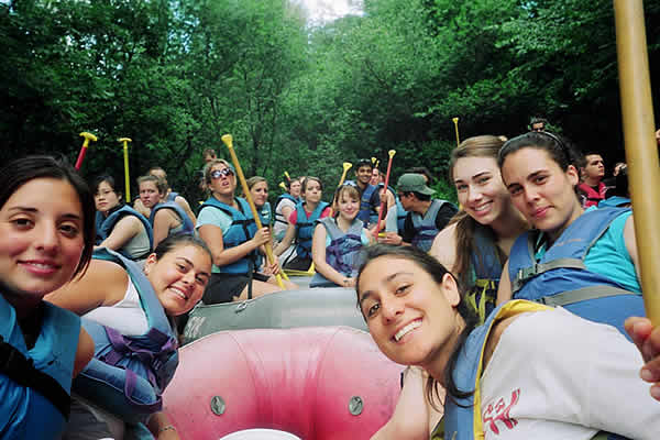 CIA campus excitement - white water river rafting