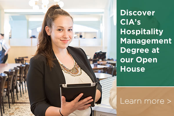 hospitality degree at our special open house
