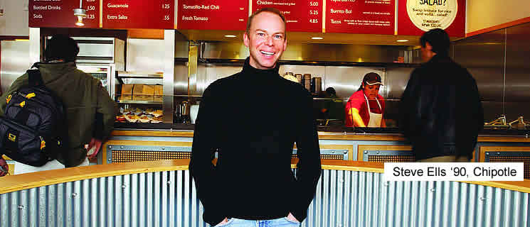 CIA Alumni Steve Ells '90 and his fast food chain, Chipotle