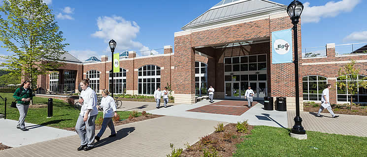 Learn about CIA NY's student commons building, on the campus in Hyde Park, NY
