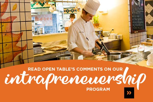 Read OpenTable's Comments on CIA's Intrapreneurship Bachelor's Degree program