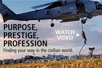 Veterans, find your way in a civilian world. Watch CIA's video