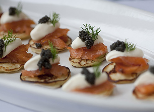 Reception hors d'oeuvres prepared by ACE students