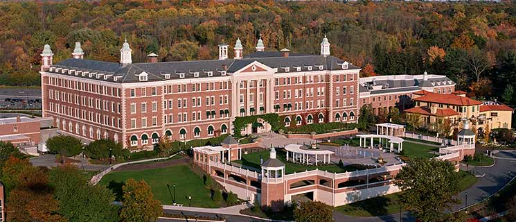 Aerial view of The Culinary Institute of America in Hyde Park, New York