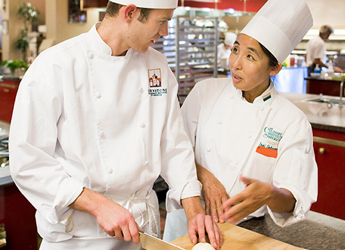 Chef Sakaguchi with a Student
