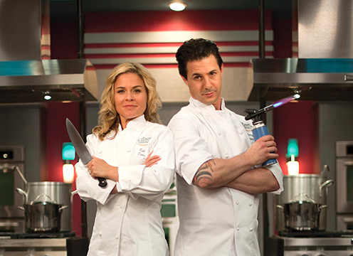 Cat Cora & Johnny Iuzzini