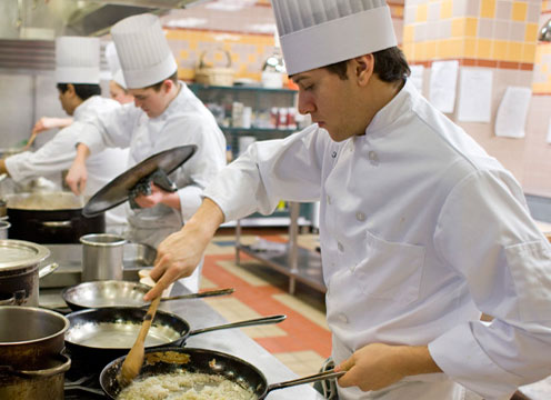 Selecting the best culinary arts college is an important decision. Let the CIA help you...read this important list. Photo: CIA culinary arts students working in one of the many kitchens on our Hyde Park, NY campus.