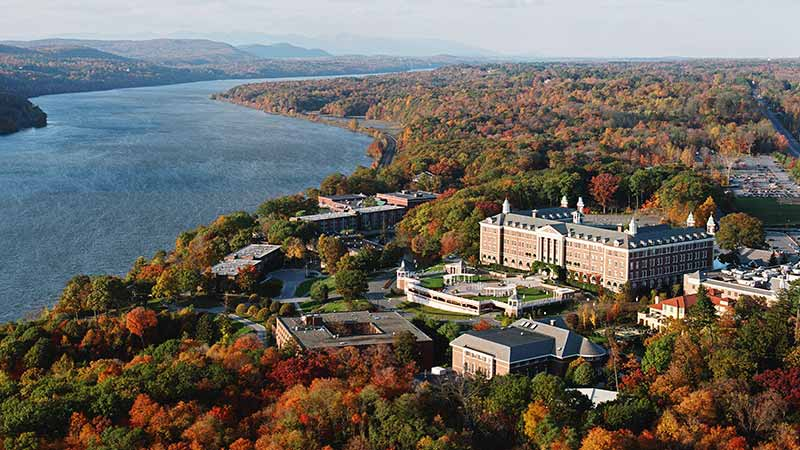 CIA's Hyde Park NY campus in the fall