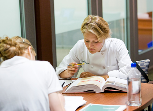 CIA students studying at the Conrad N. Hilton Library