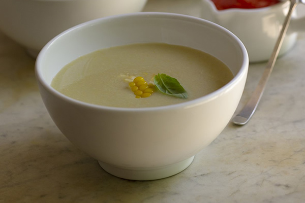 CIA pantry recipe: corn and squash soup