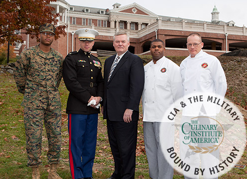 Marines with CIA President Dr