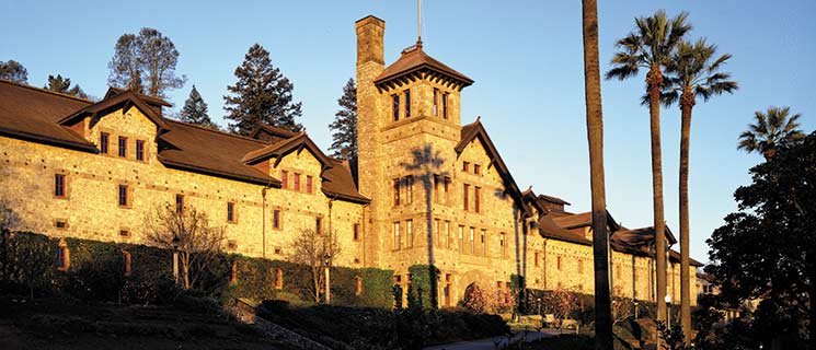 The Culinary Institute of America Greystone building in St. Helena, California.